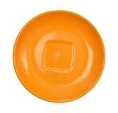 Pomarańczowy spodeczek obrazy stock