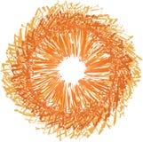 Pomarańczowy sunbust fotografia stock