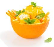 Pomarańczowy sundae fotografia stock