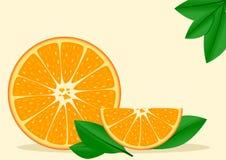 Pomarańczowy tło Obrazy Royalty Free