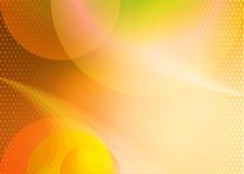 Pomarańczowy tło z okręgami Zdjęcie Stock