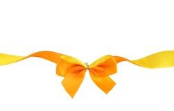 pomarańczowy tasiemkowy kolor żółty Obraz Stock