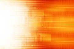 Pomarańczowy techniczny tło Zdjęcia Stock