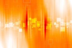 Pomarańczowy technologia abstrakta tło Fotografia Royalty Free