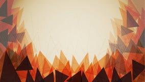 Pomarańczowy trójboka tła szablon - Wektorowa ilustracja ilustracja wektor