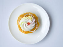 pomarańczowy waniliowy śmietanka tort Obrazy Royalty Free