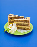 Pomarańczowy warstwa tort zdjęcie stock
