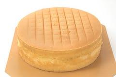 Pomarańczowy warstwa tort właśnie z piekarnika obraz royalty free