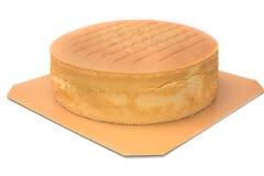 Pomarańczowy warstwa tort właśnie z piekarnika zdjęcia stock
