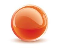 pomarańczowy wektor 3 d kuli ilustracja wektor