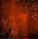 Pomarańczowy wielobok Ilustracja pomarańczowy wieloboka tło Abstra ilustracji