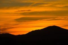 Pomarańczowy wschód słońca w Kalifornia obrazy stock