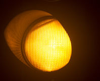 Pomarańczowy złocisty światła ruchu Zdjęcia Royalty Free