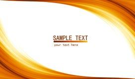 Pomarańczowy zaawansowany technicznie abstrakcjonistyczny tło Zdjęcie Stock