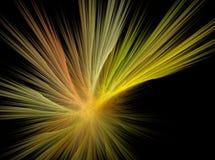 Pomarańczowych linii fractal skutka światła abstrakcjonistyczny tło Obrazy Royalty Free