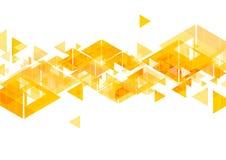 Pomarańczowych trójboków abstrakcjonistyczny geometryczny projekt royalty ilustracja