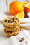 pomarańcz czekoladowi tarts Zdjęcia Stock