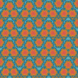 Pomarańcz falowych tekstylnych squiggles bezszwowy wzór Zdjęcia Royalty Free