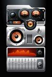 pomarańcze analogowy gracz mp3 Zdjęcia Stock