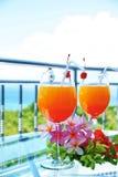 Pomarańcze Barwiony Tropikalny koktajl Obrazy Royalty Free
