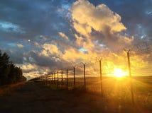 pomarańcze chmury Zdjęcia Stock