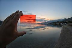 Pomarańcze filtrowi widoki horyzont Obraz Royalty Free