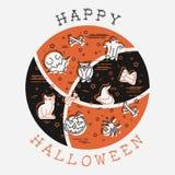Pomarańcze i Brown Halloween ilustracja ilustracji