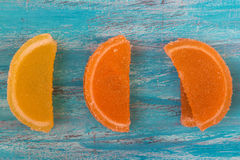Pomarańcze i cytryny galareta Zdjęcie Royalty Free