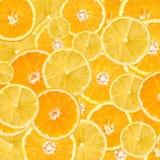 Pomarańcze I cytryny plasterka abstrakt Zdjęcia Royalty Free