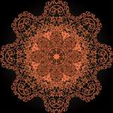 Pomarańcze i czerni wzór Obrazy Stock