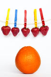 Pomarańcze i jagody Obrazy Royalty Free