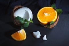 Pomarańcze i koks Obrazy Stock