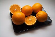 Pomarańcze na bielu Zdjęcie Royalty Free