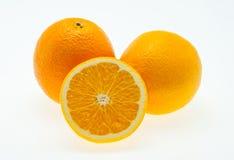 Pomarańcze na wihte tle Obrazy Royalty Free