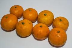 Pomarańcze odizolowywa na bielu Fotografia Stock