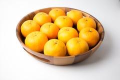 Pomarańcze owocowe na odosobnionym tle Obrazy Royalty Free