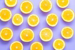 Pomarańcze plasterków wzór Obrazy Royalty Free