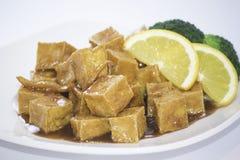 Pomarańcze Sosowany Tofu Fotografia Stock