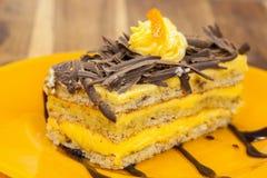 Pomarańcze tort zdjęcia royalty free