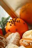 Pomarańcze z ciastkami Obraz Stock