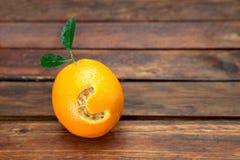 Pomarańcze z listem C Obrazy Stock