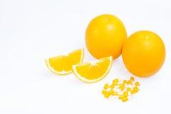 Pomarańcze z plasterkami Zdjęcie Stock