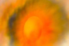 Pomarańczowa abstrakcjonistyczna akwarela Zdjęcie Royalty Free