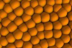 Pomarańczowa celular ulga 3d z cieniami Fotografia Stock