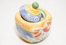 Pomarańczowa cukiernica dla herbaty Fotografia Royalty Free