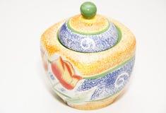 Pomarańczowa cukiernica dla herbaty Obrazy Royalty Free