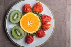 Pomarańczowa kiwi truskawka Obraz Stock