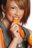 pomarańczowa kobieta zdjęcia stock