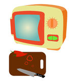 Pomarańczowa mikrofala Obraz Stock