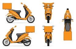 Pomarańczowa motocyklu wektoru ilustracja Zdjęcia Stock